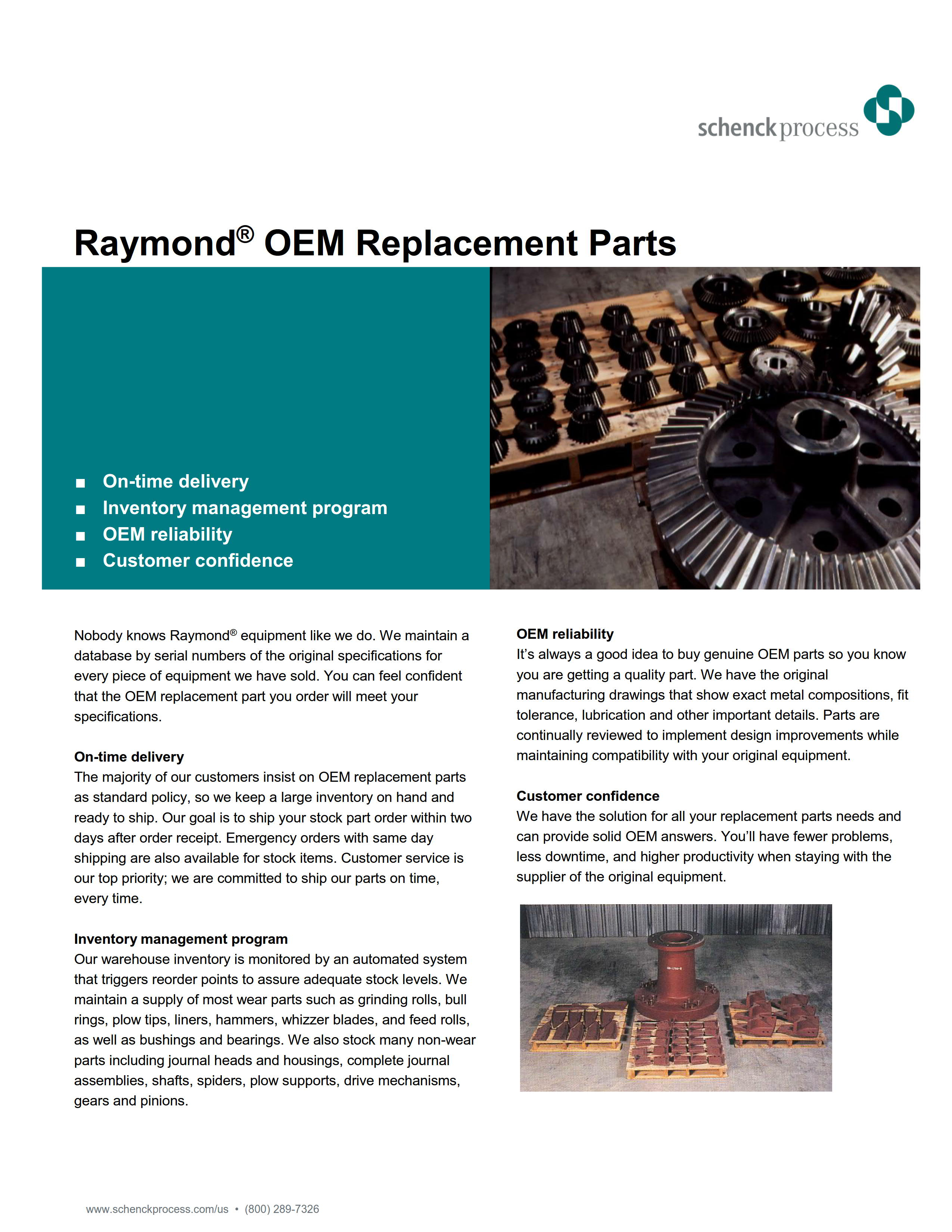 Raymond® OEM Replacement Parts