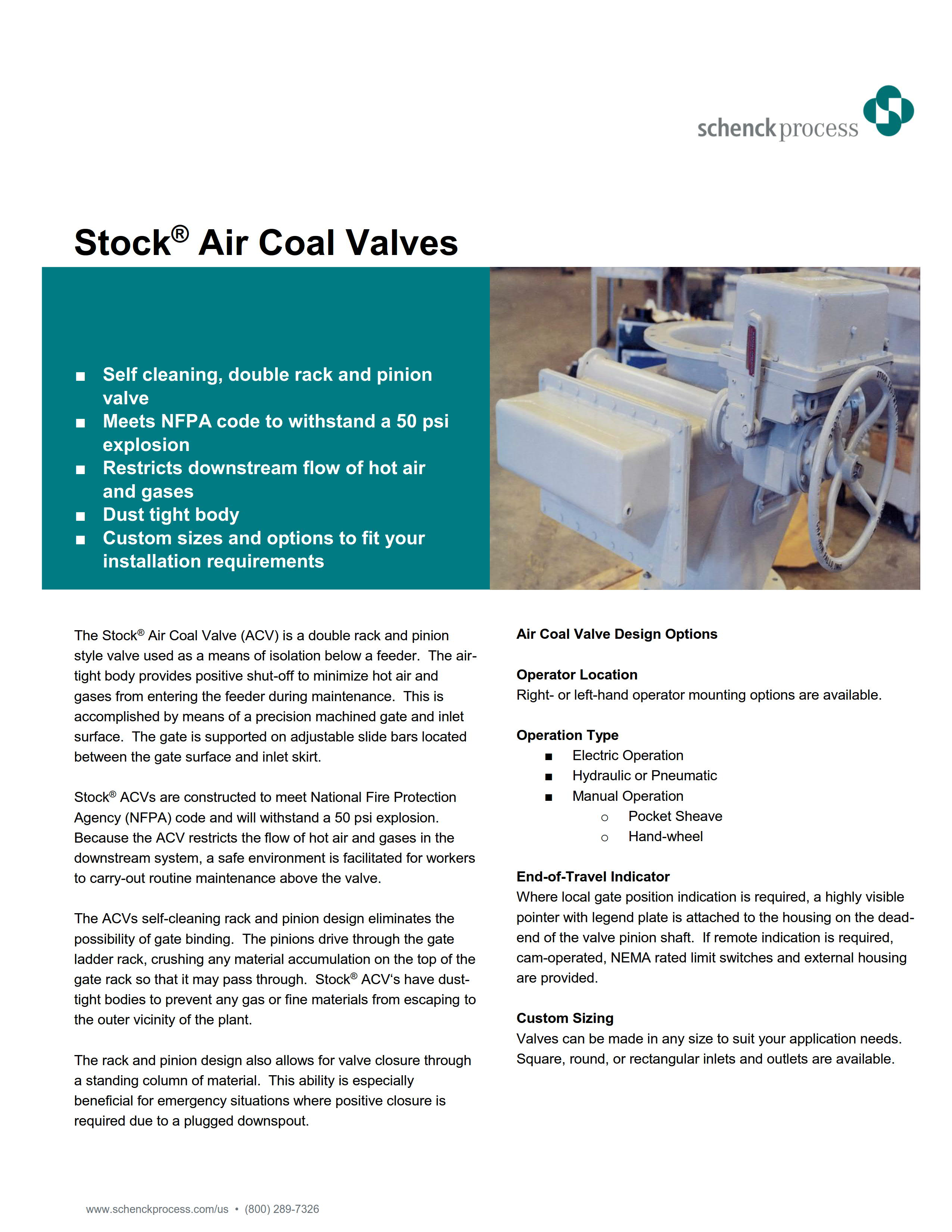 Stock® Air Coal Valve