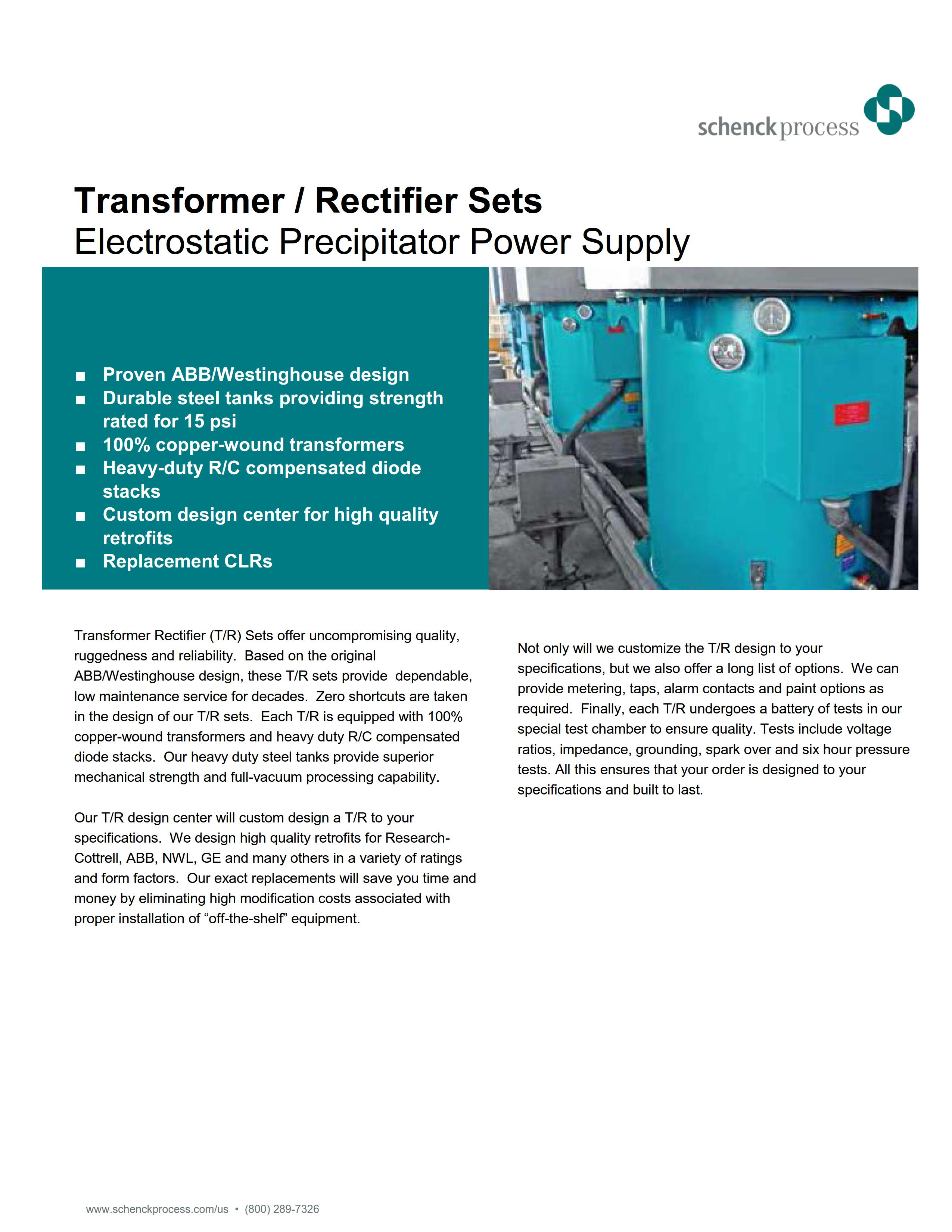 Transformer / Rectifier Sets