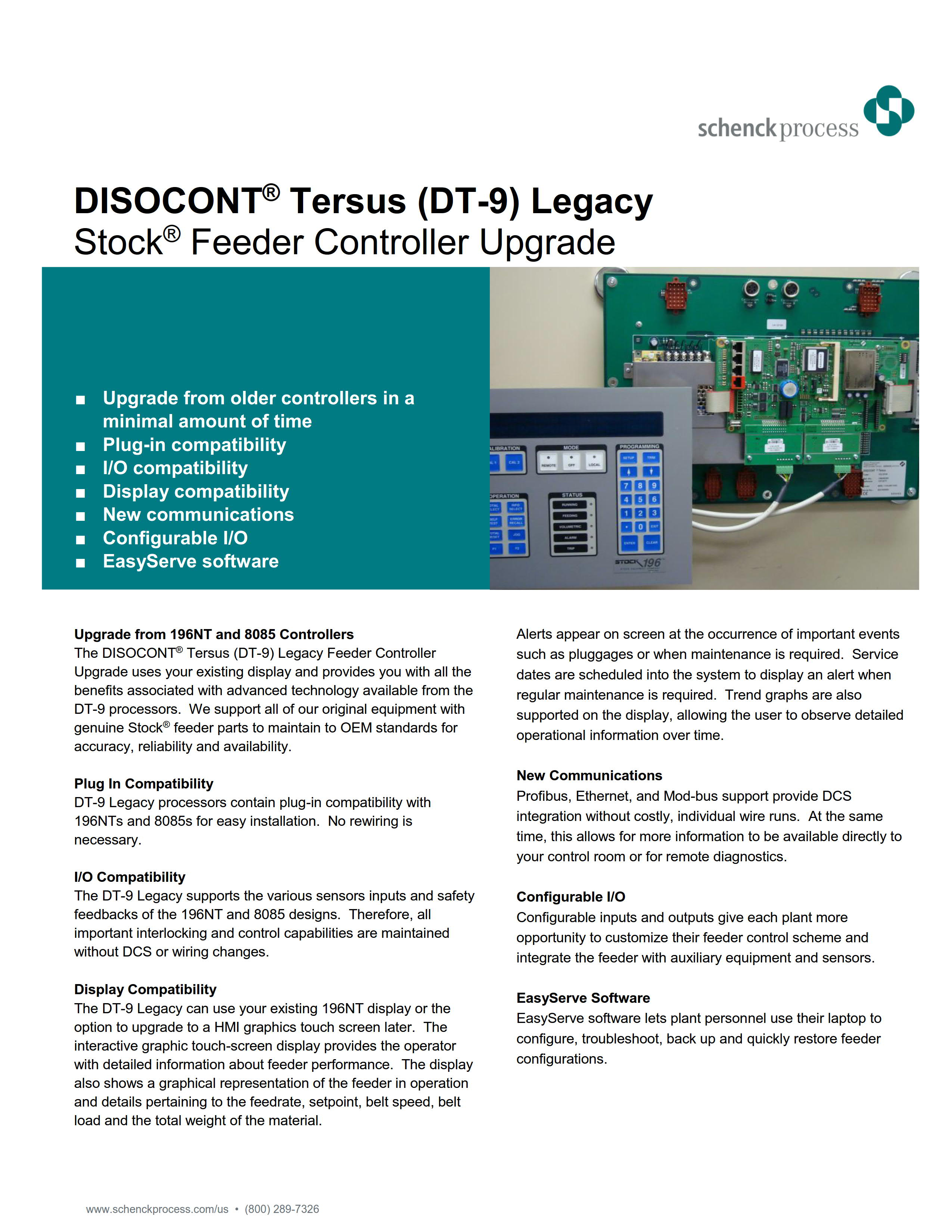 DISOCONT® Tersus (DT-9) Legacy Stock® Feeder Controller Upgrade