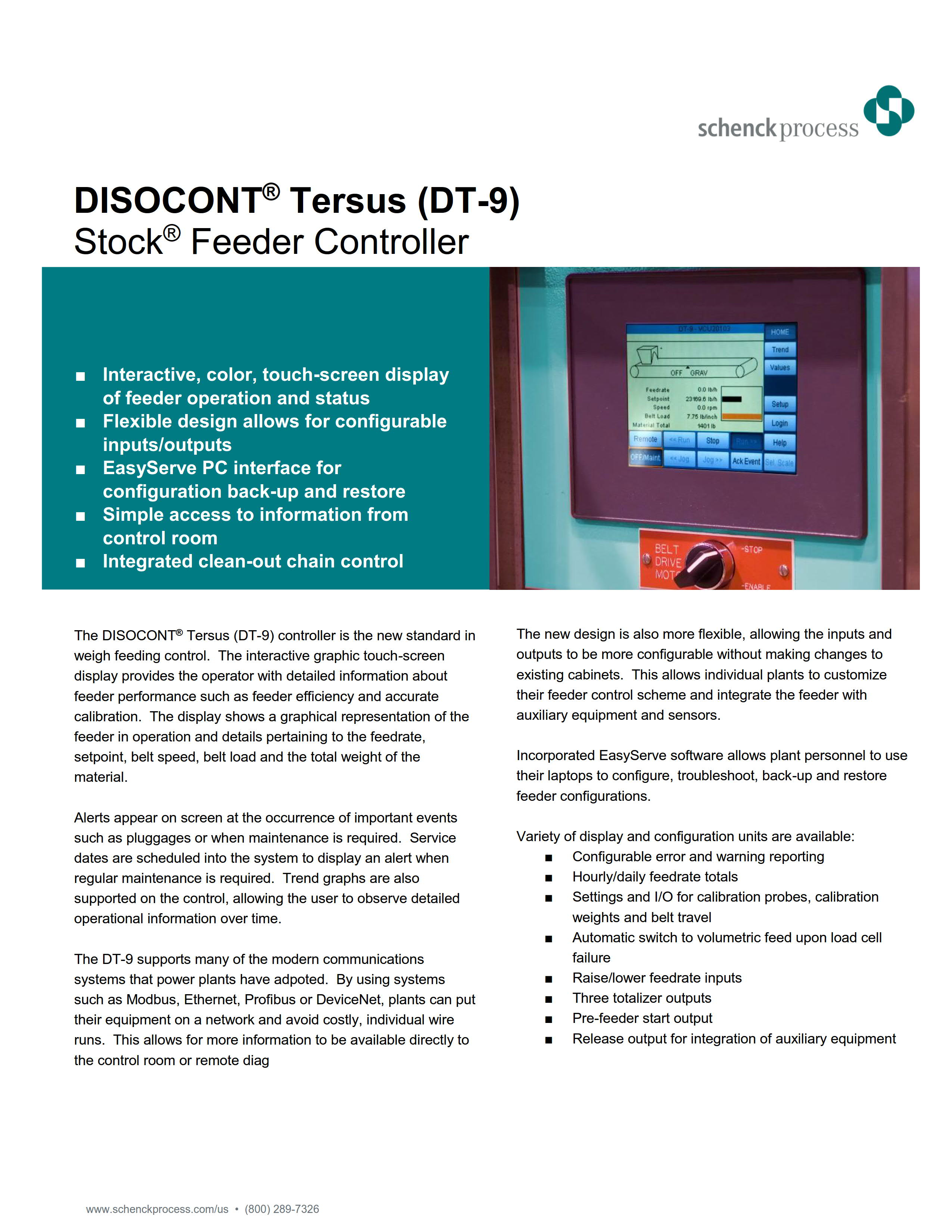 DISOCONT® Tersus (DT-9) Stock® Feeder Controller