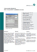 Communication Modules for PCS 7, TIA and STEP 7 to SIEMENS Controllers