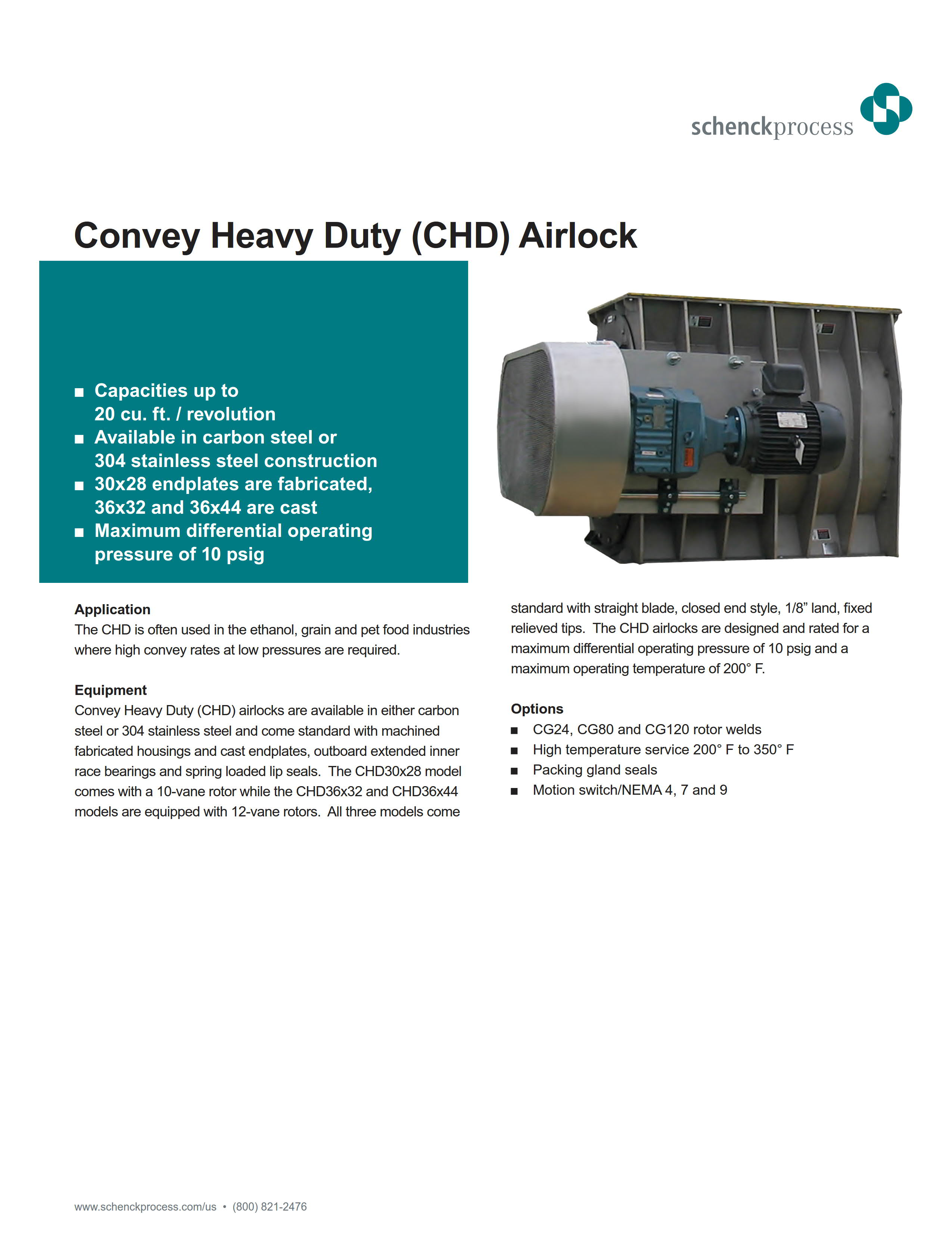Convey Heavy Duty (CHD) Airlock
