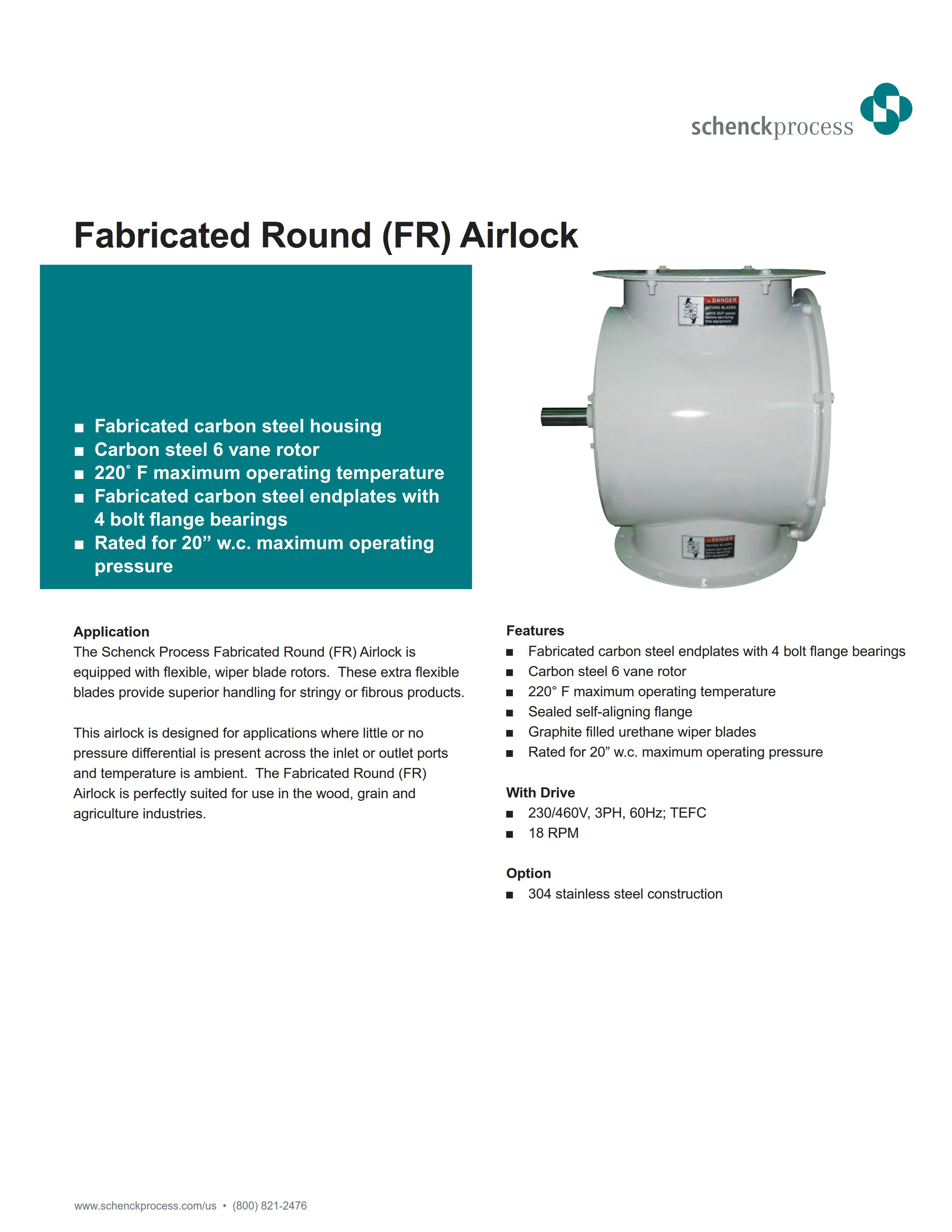 Fabricated Round (FR) Airlock
