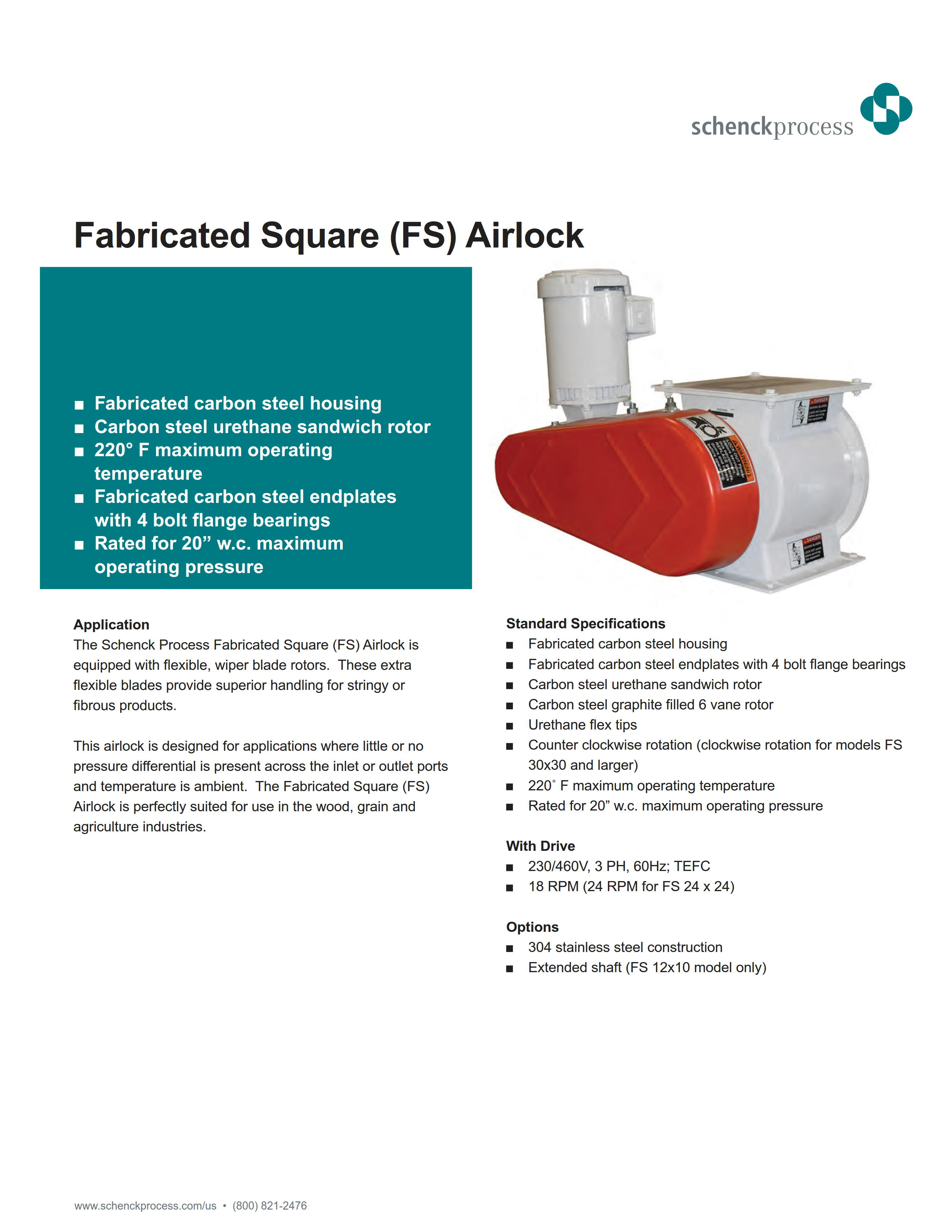 Fabricated Square (FS) Airlock