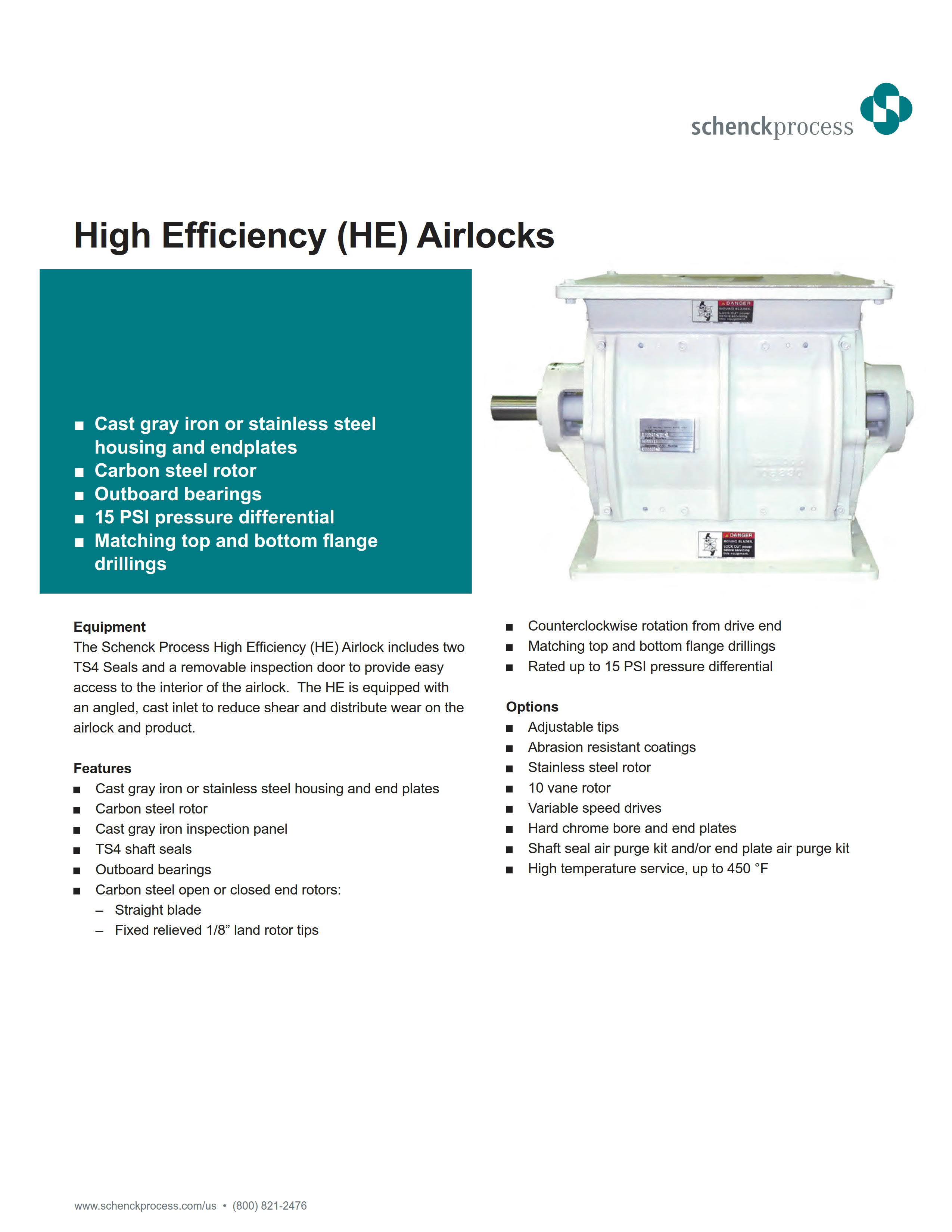 High Efficiency (HE) Airlock