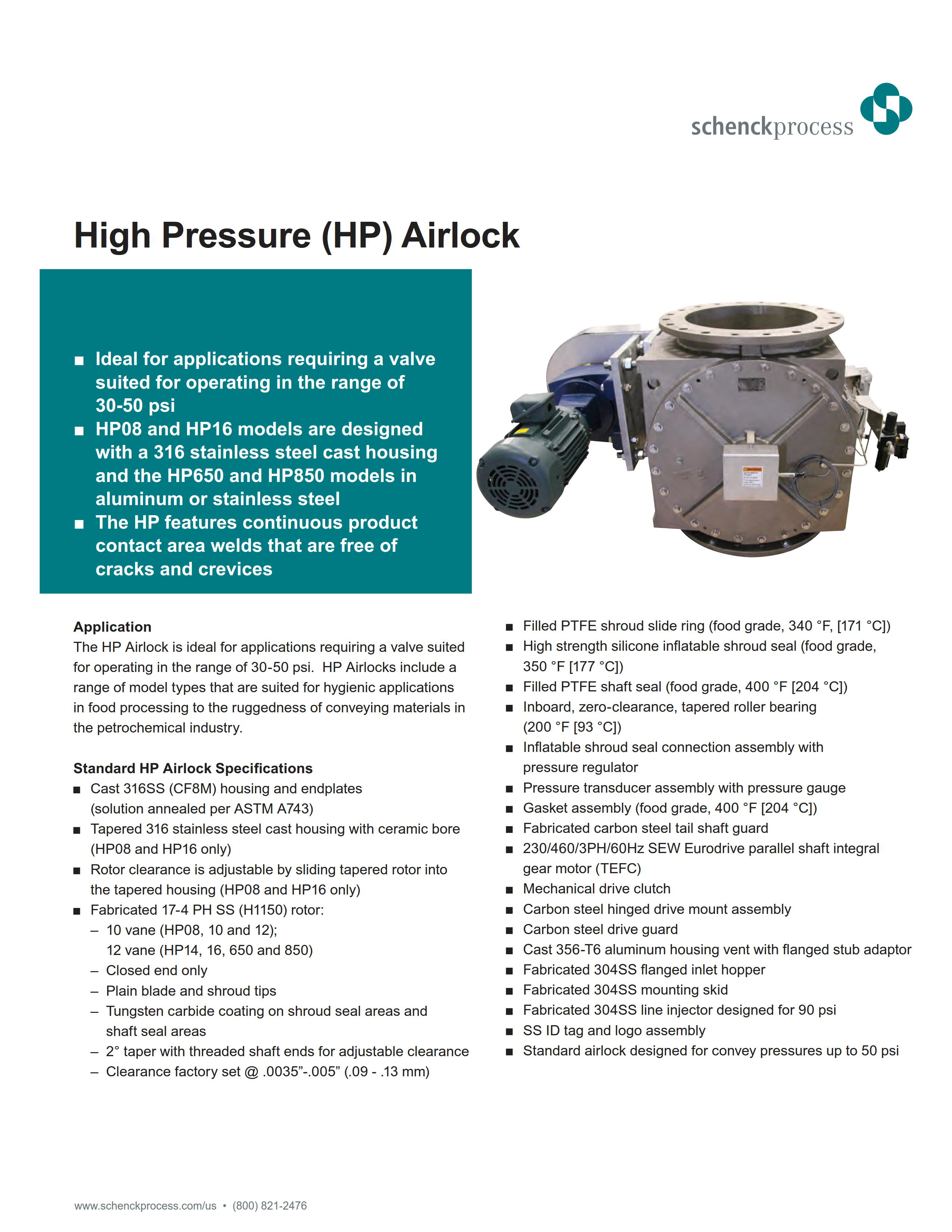 High Pressure (HP) Airlock