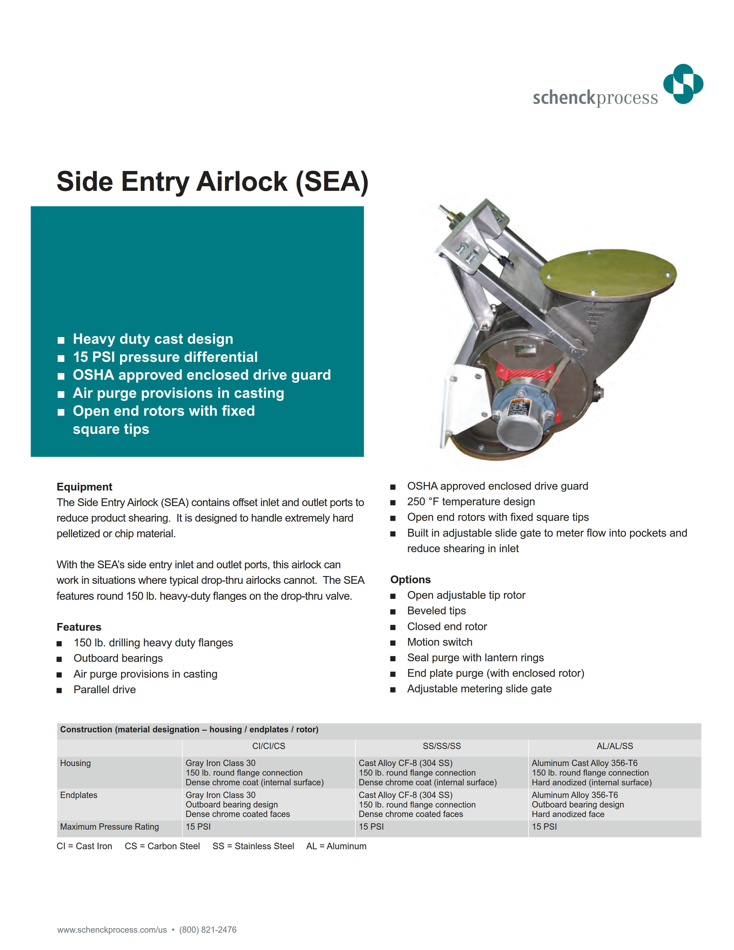 Side Entry Airlock (SEA)