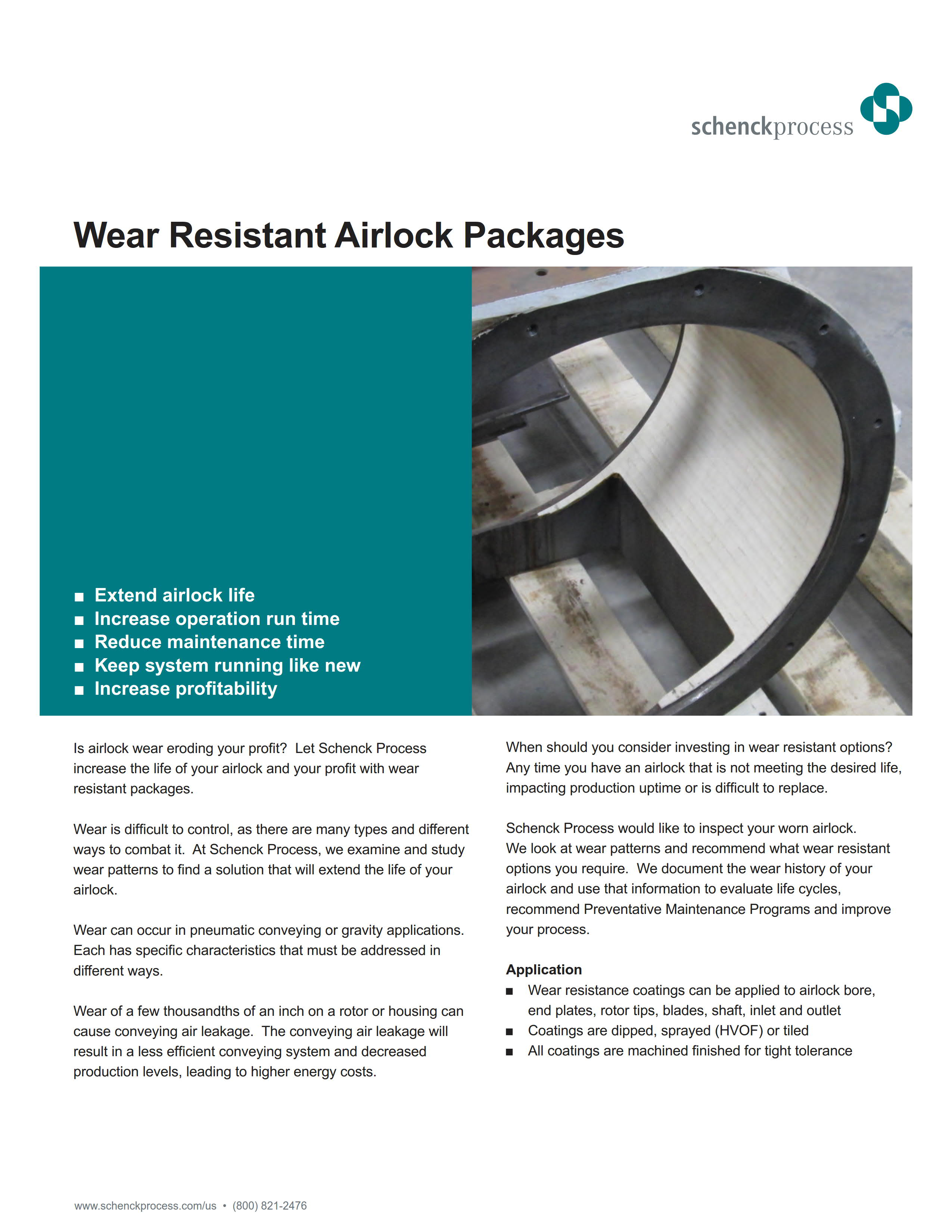 Wear Resistant Airlock Packages
