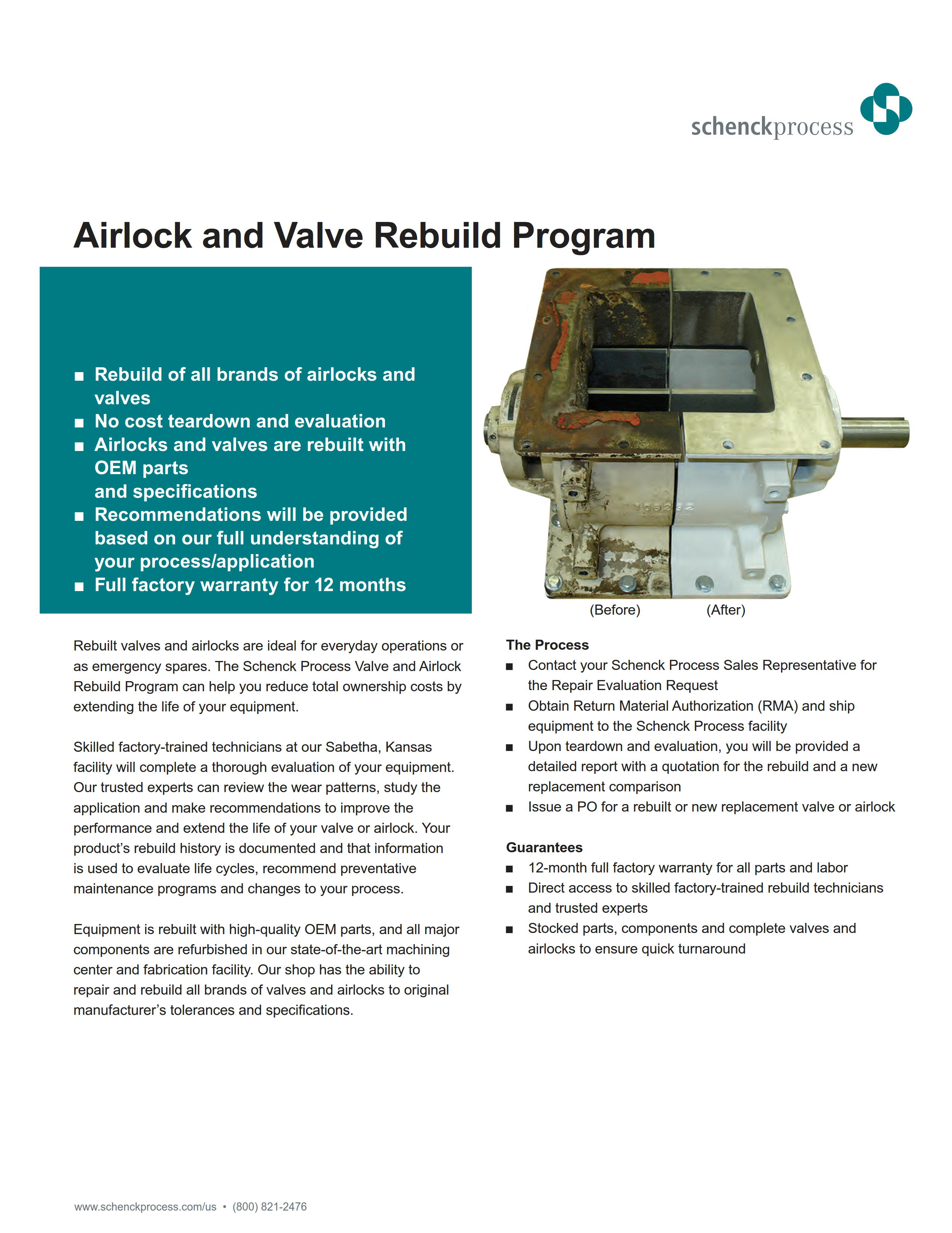 Airlock and Valve Rebuild Program
