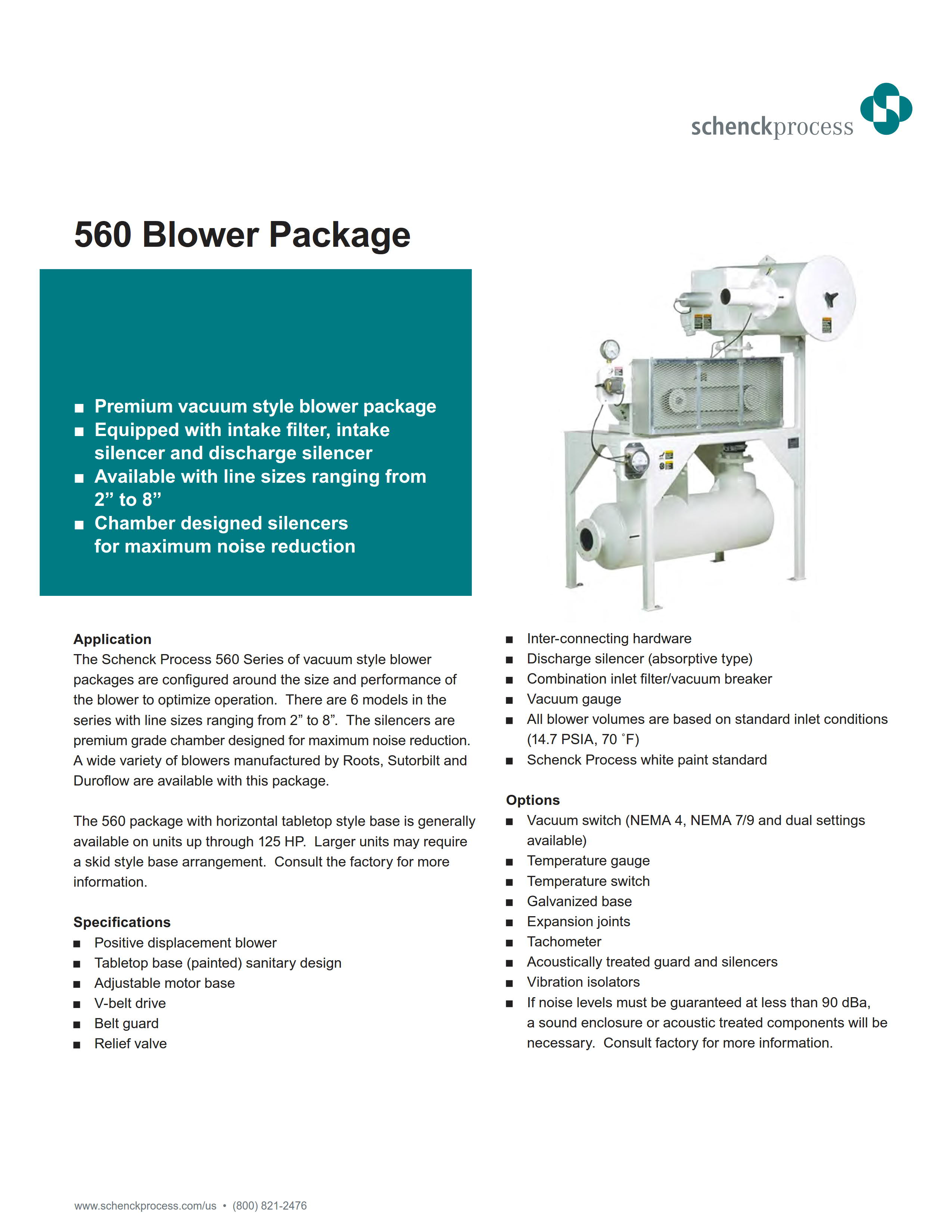 560 Blower Package