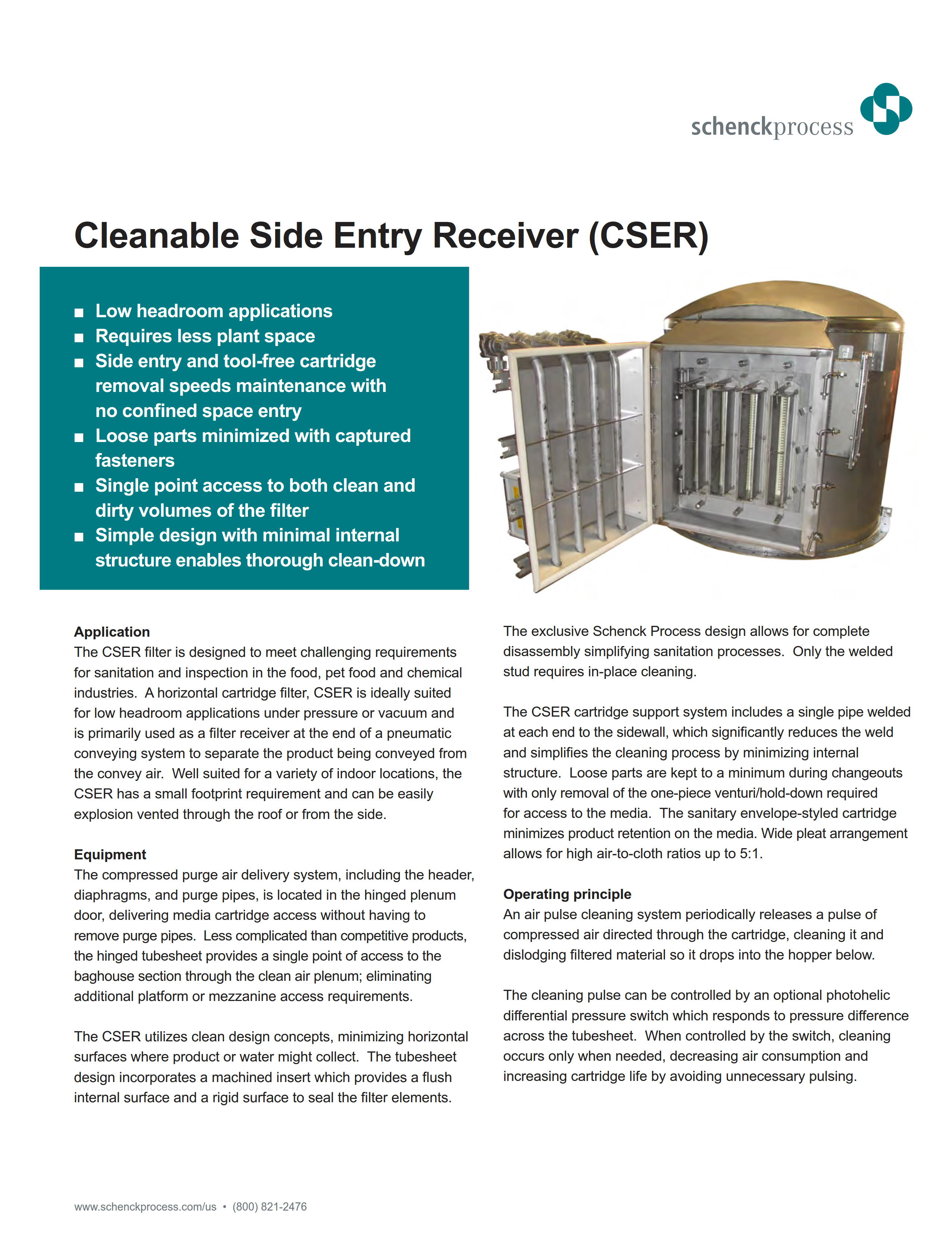 Cleanable Side Entry Recevier