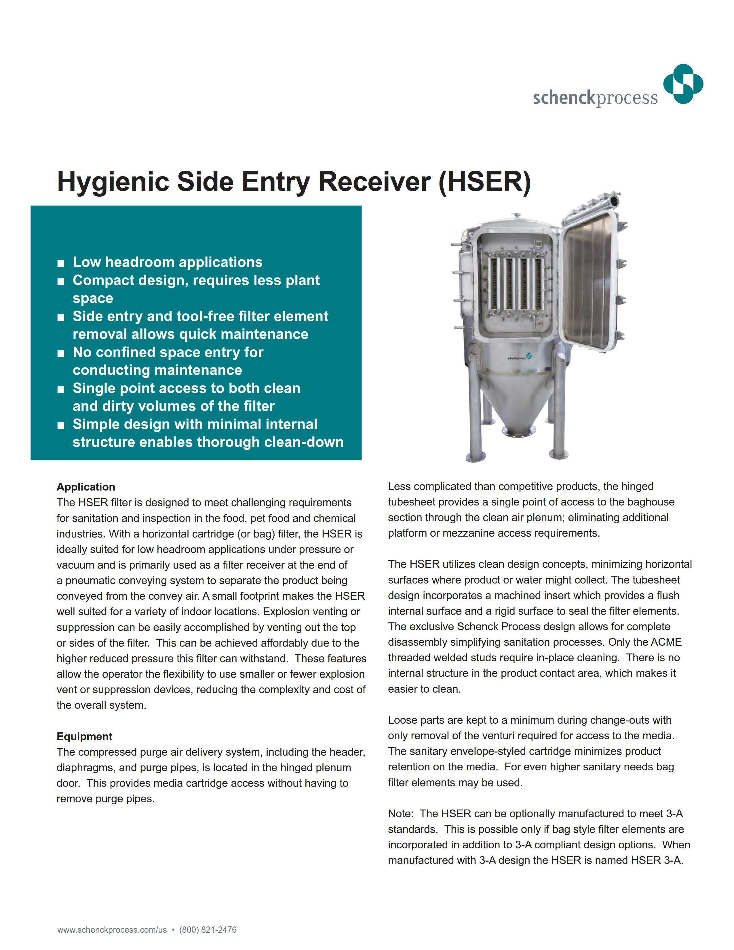 Hygienic Side Entry Receiver (HSER)