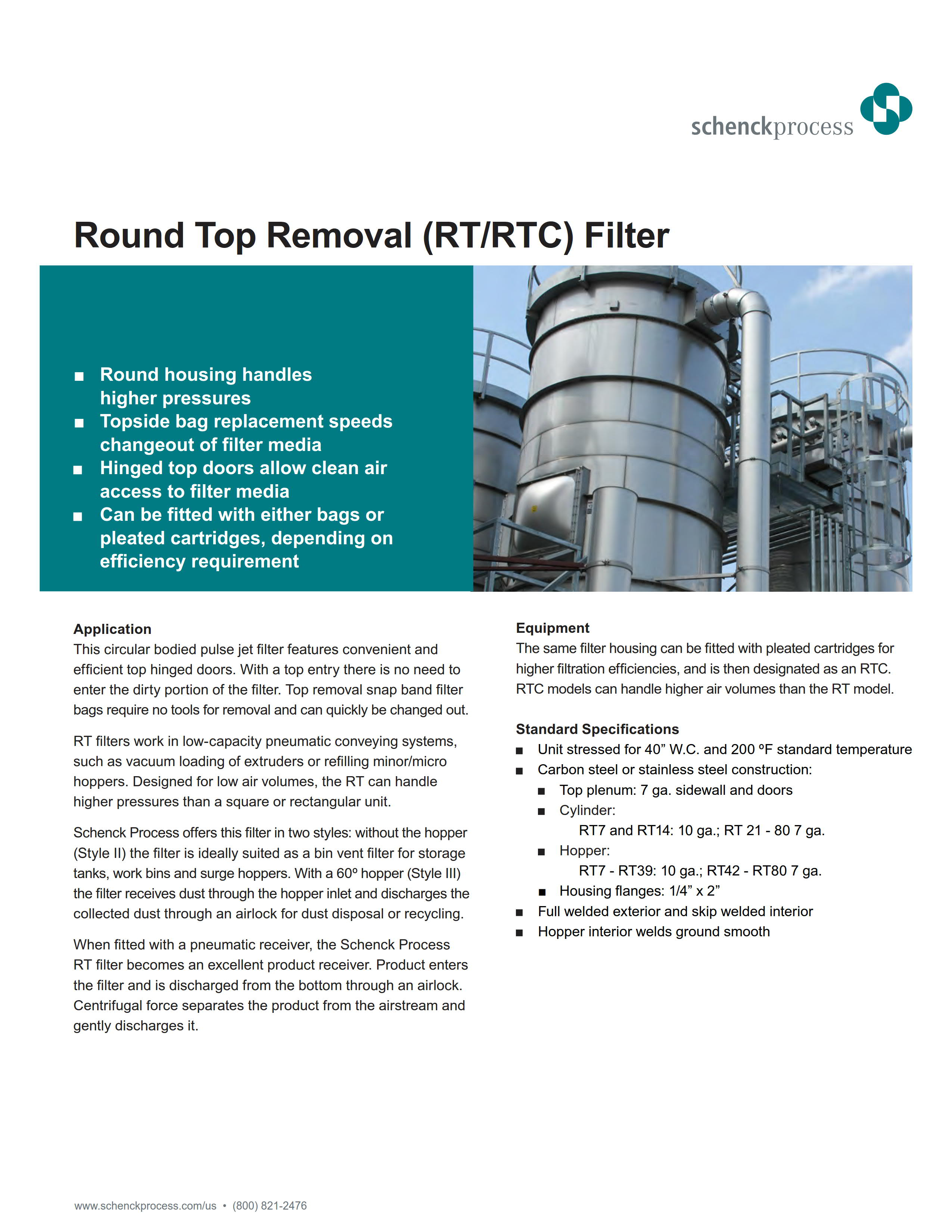 Round Top Removal (RT/RTC) Filter