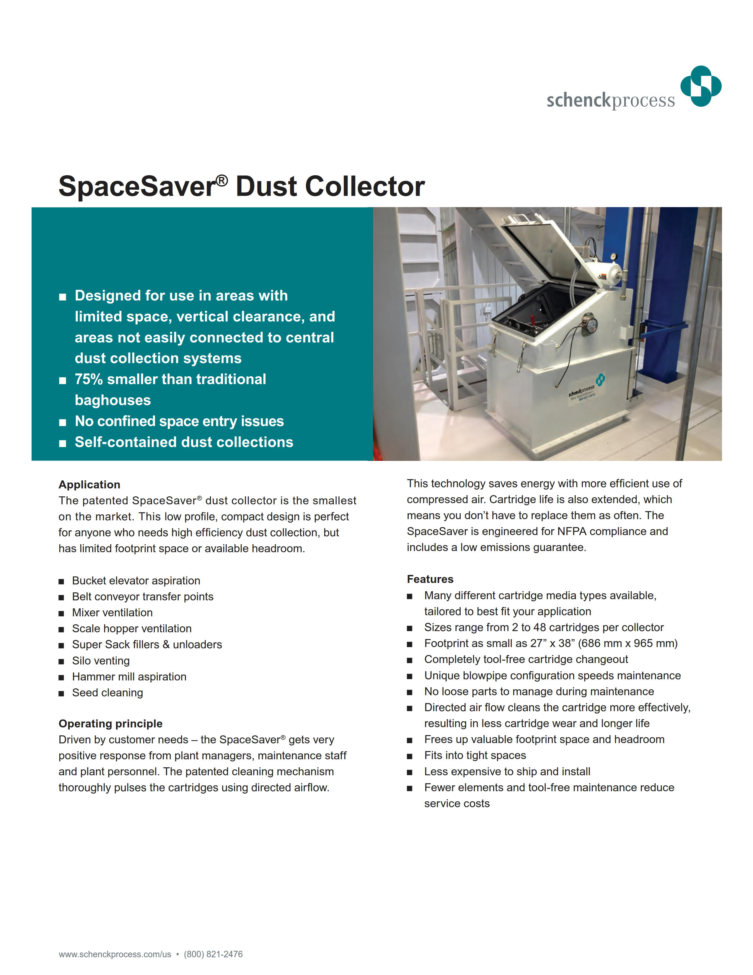 SpaceSaver Dust Collector