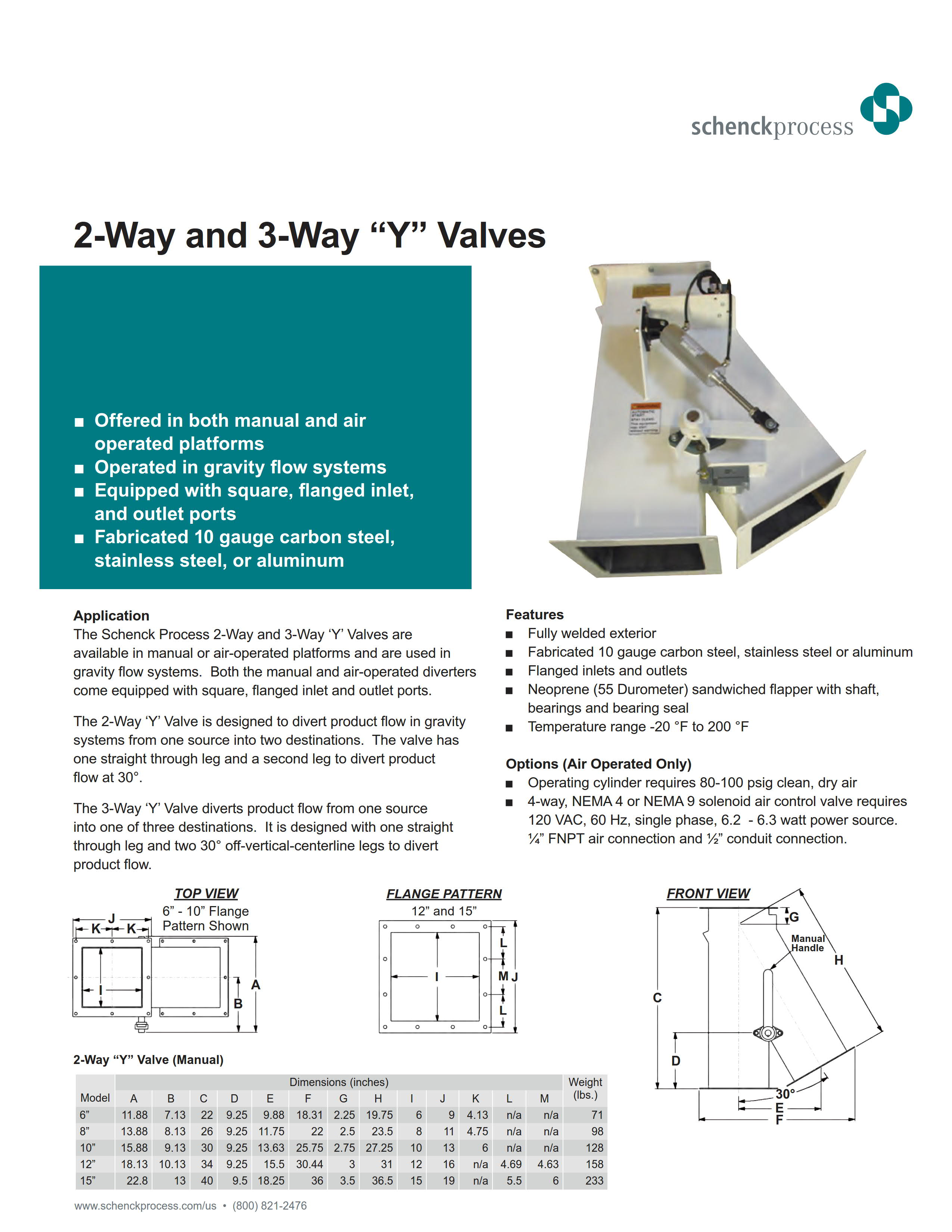 "2-Way and 3-Way ""Y"" Valves"