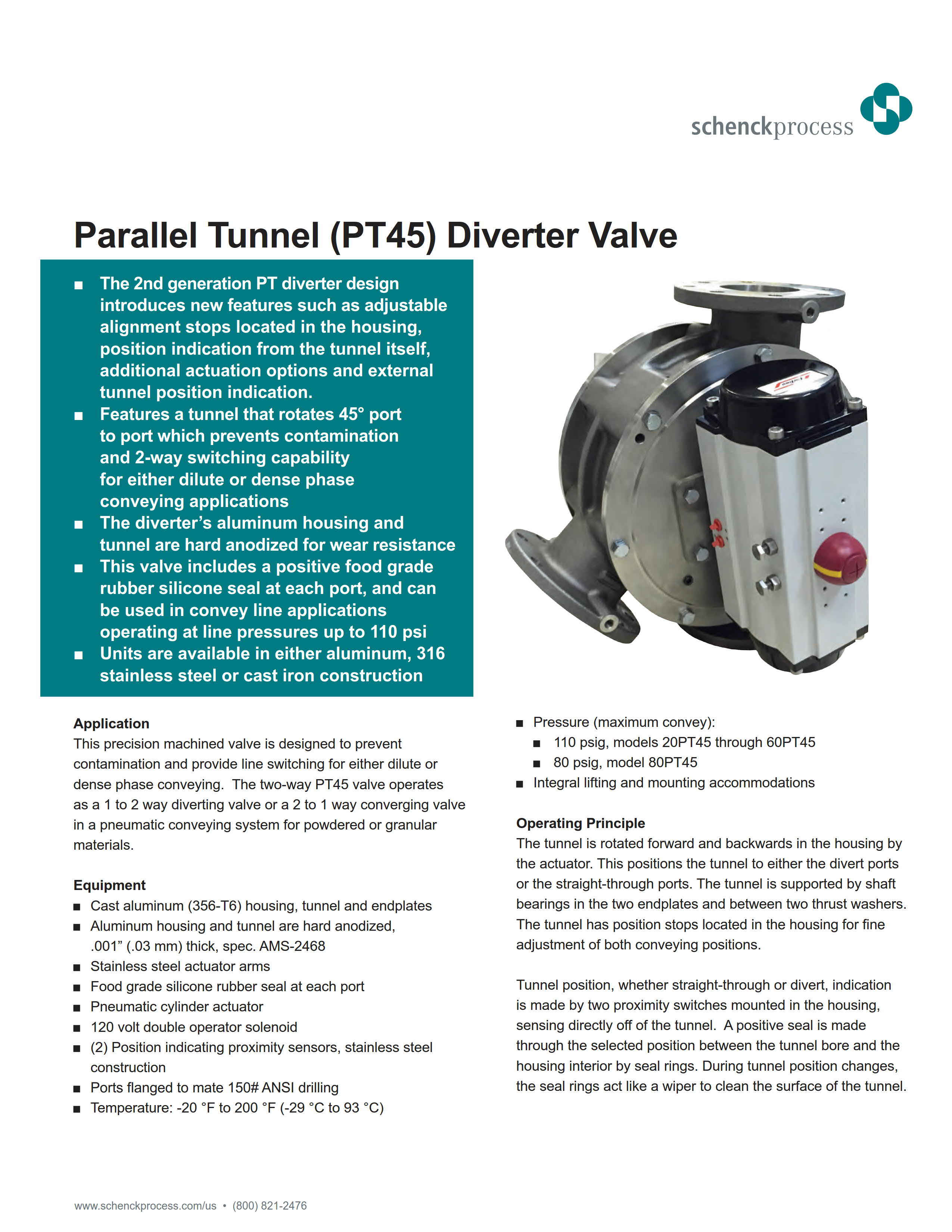 Parallel Tunnel (PT45) Diverter Valve