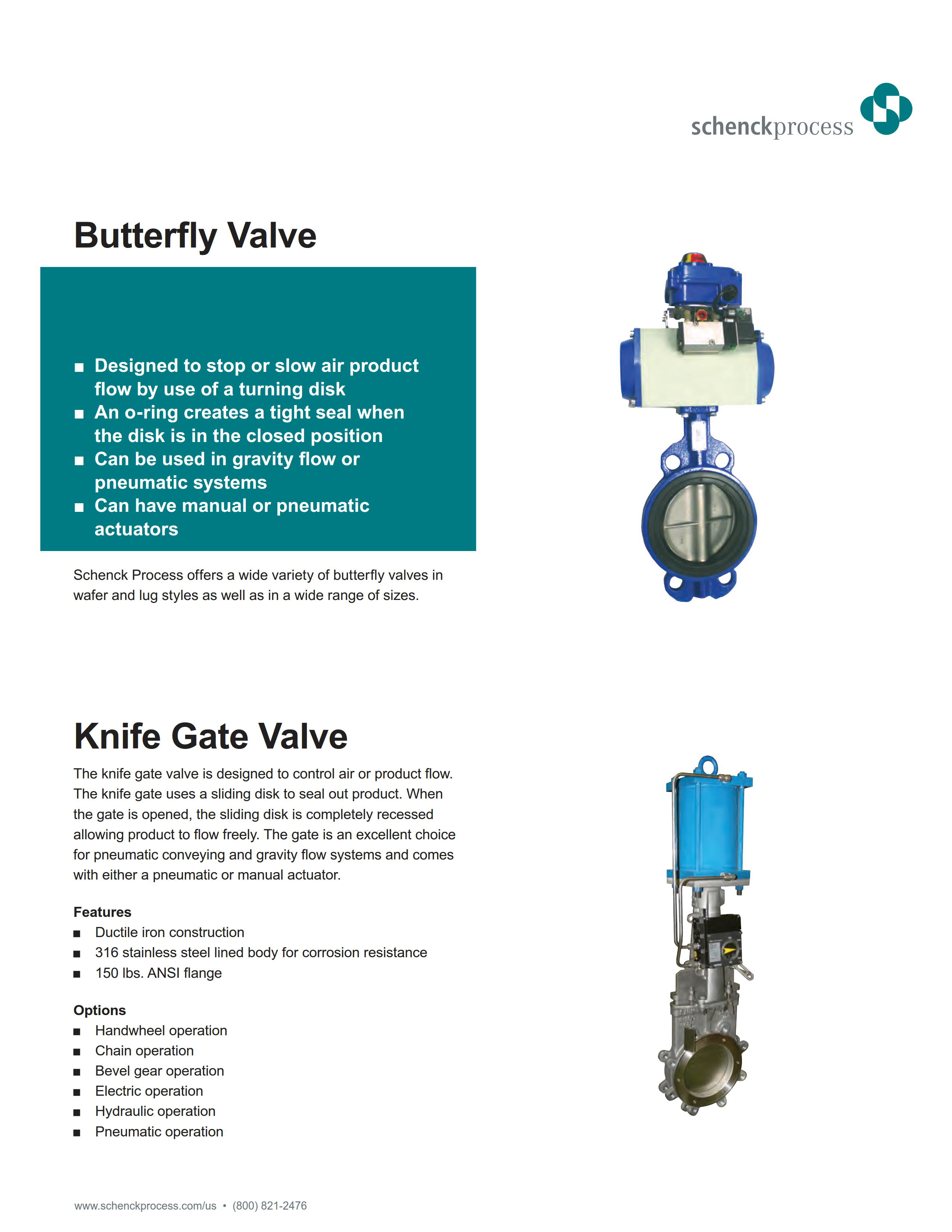 Butterfly Valve and Knife Gate Valve