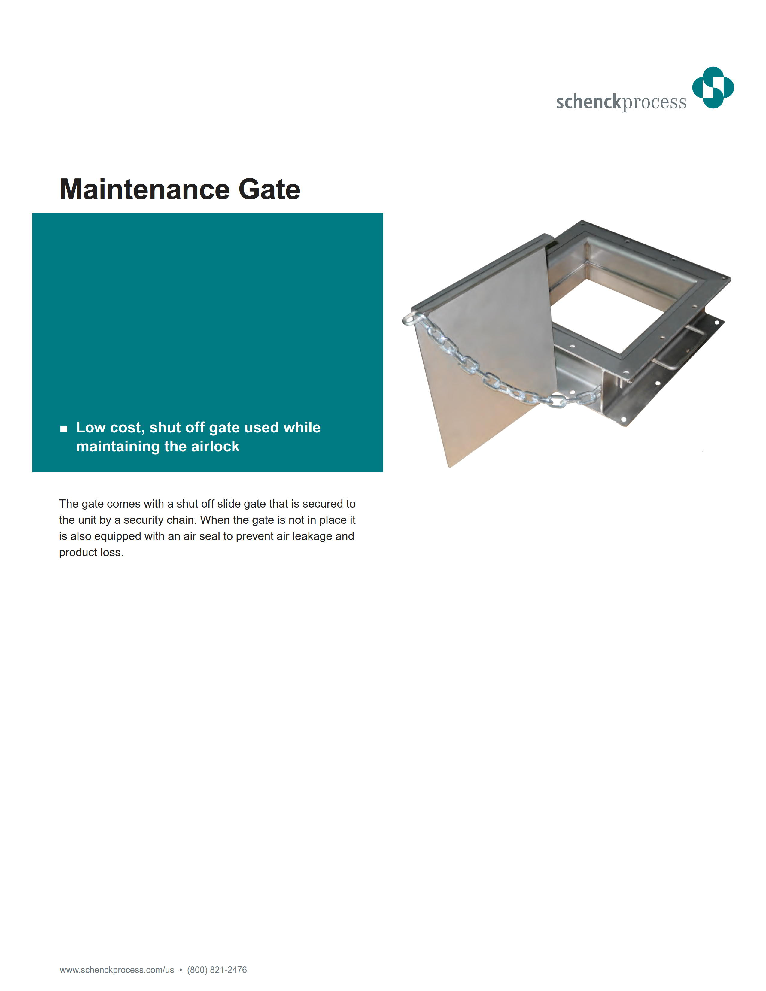 Maintenance Gate