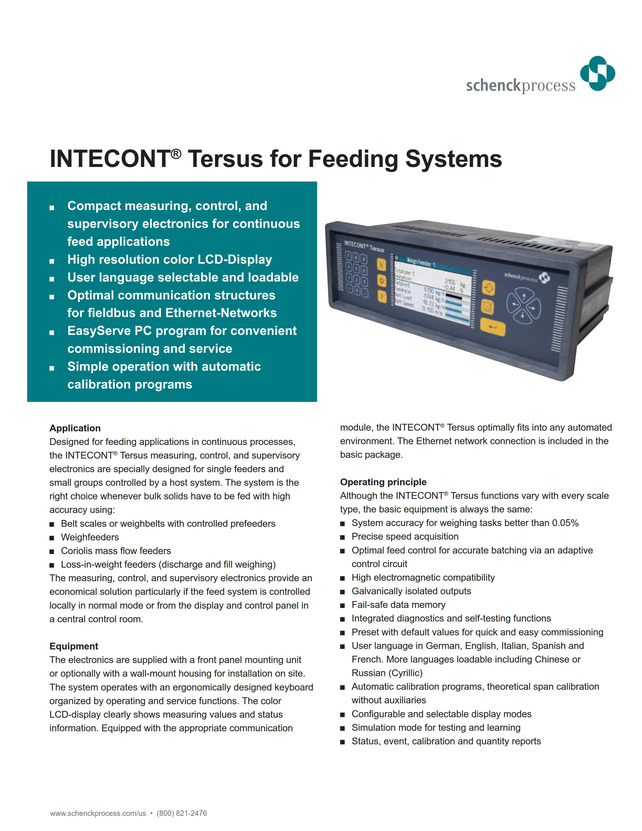 INTECONT Tersus for Feeding Systems