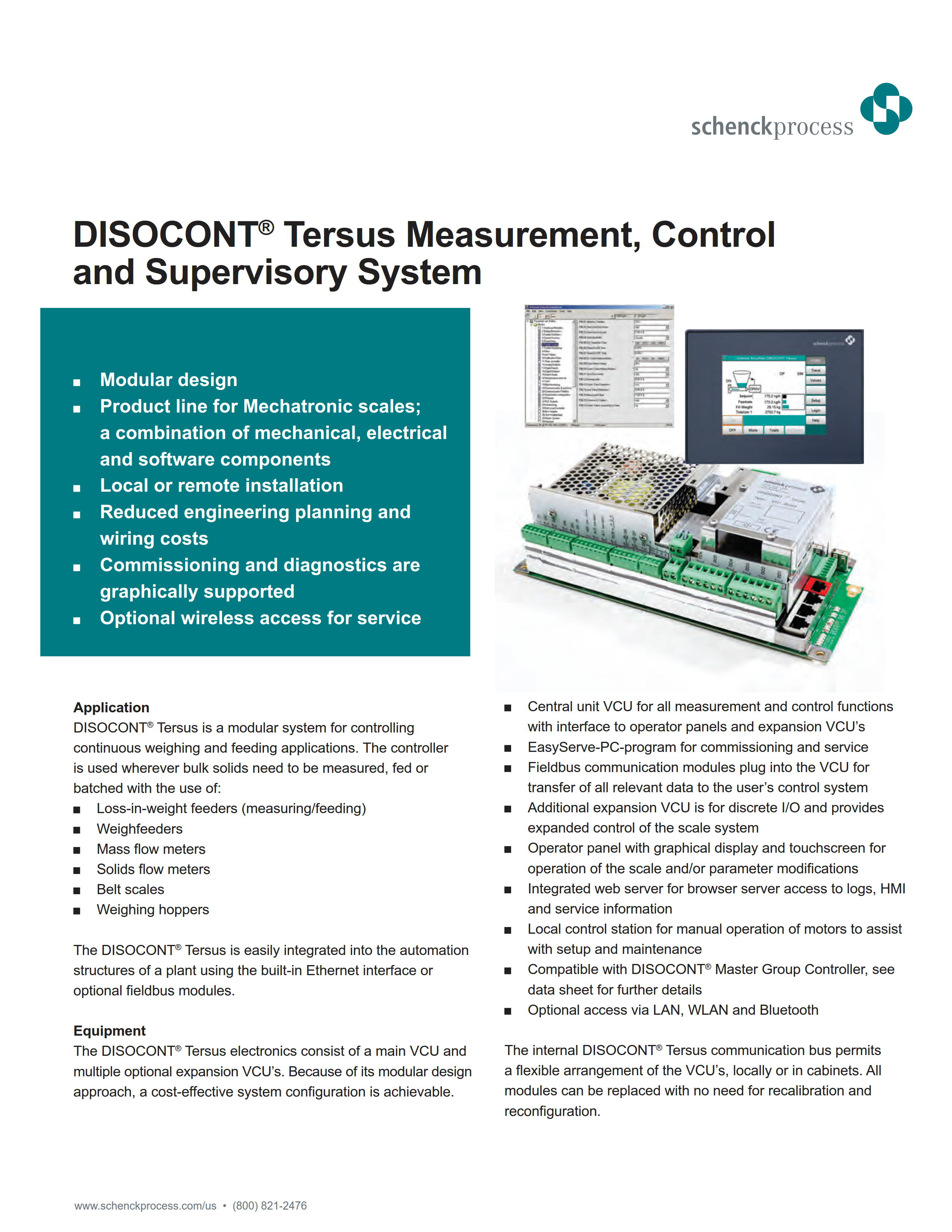 DISOCONT Tersus Measurement, Control and Supervisory System