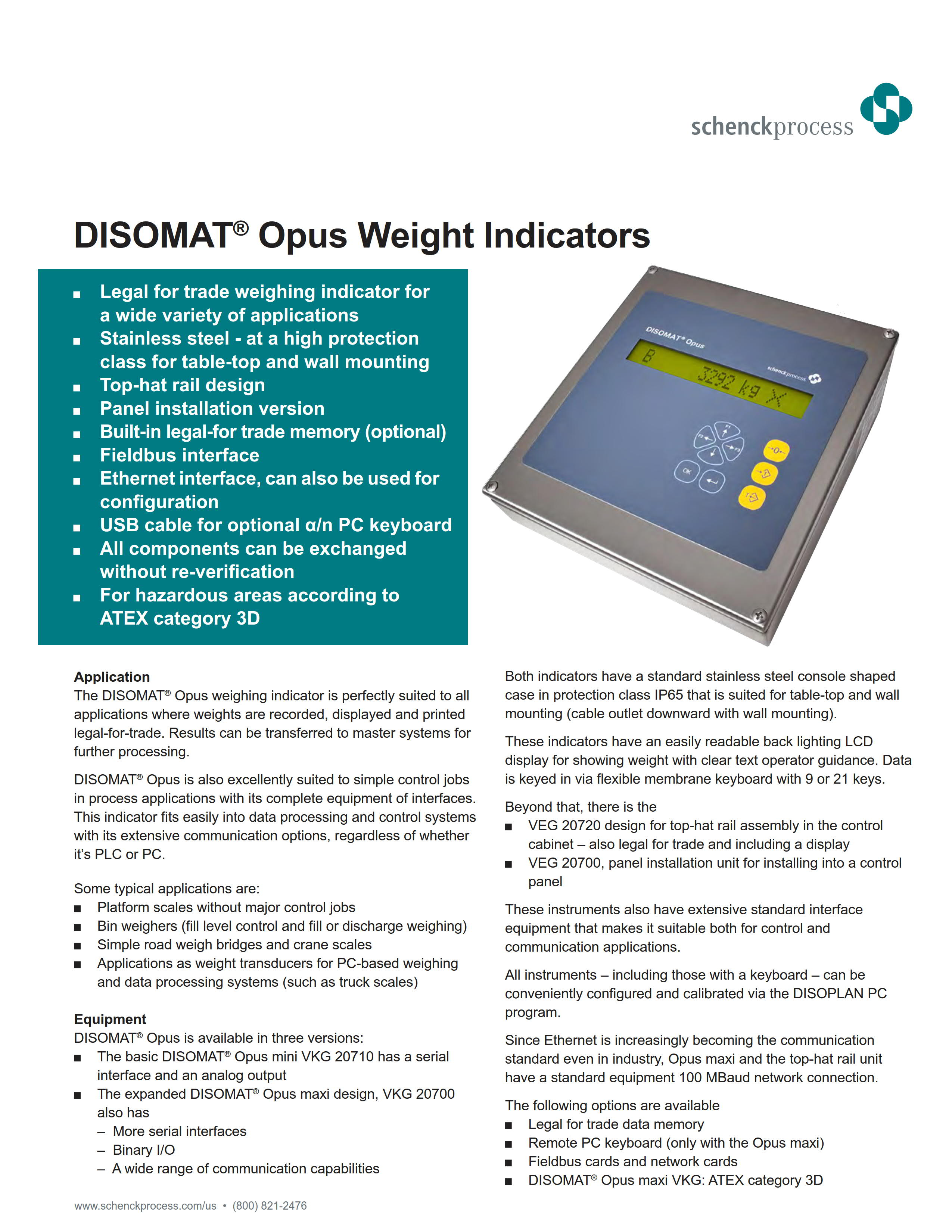 DISOMAT® Opus Weight Indicators