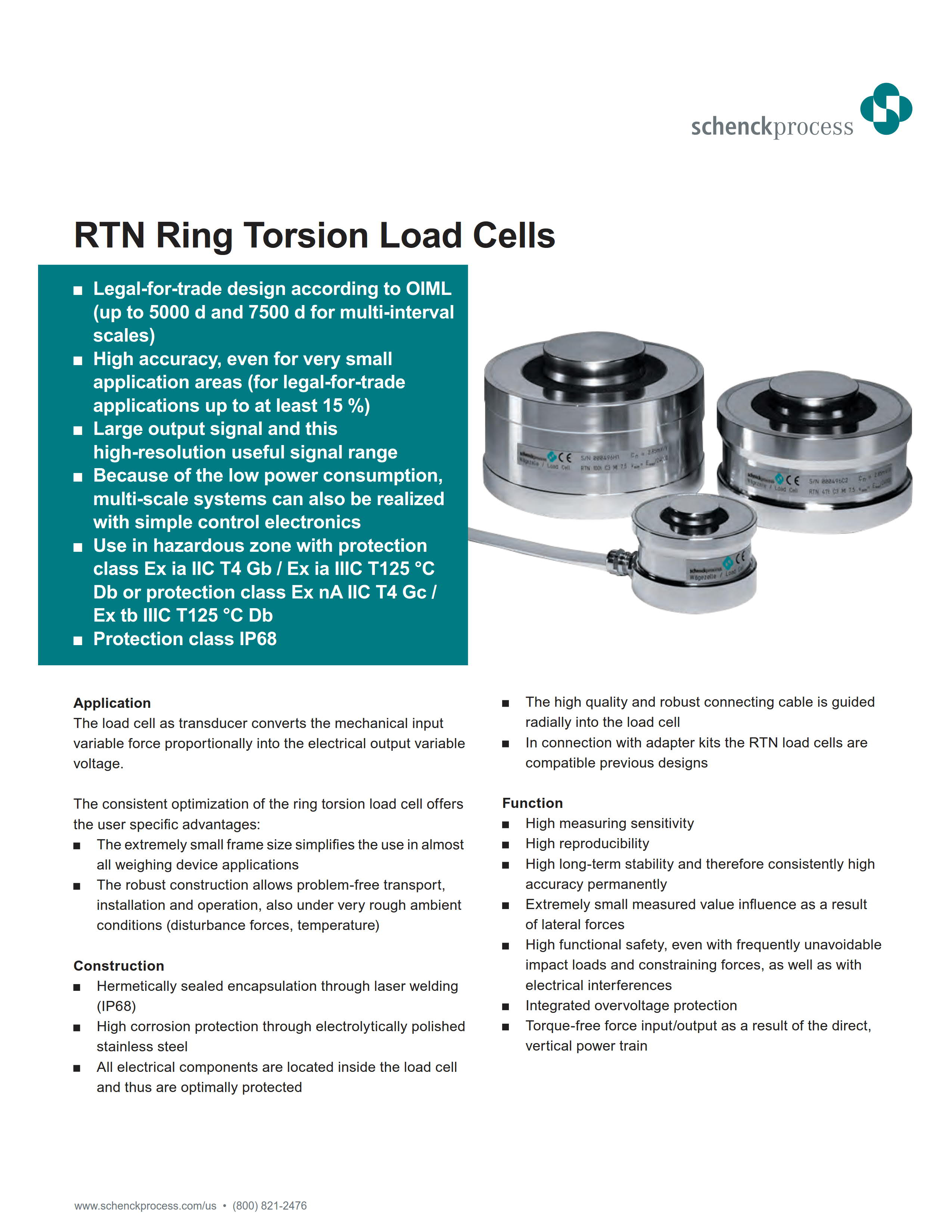 RTN Ring Torsion Load Cells