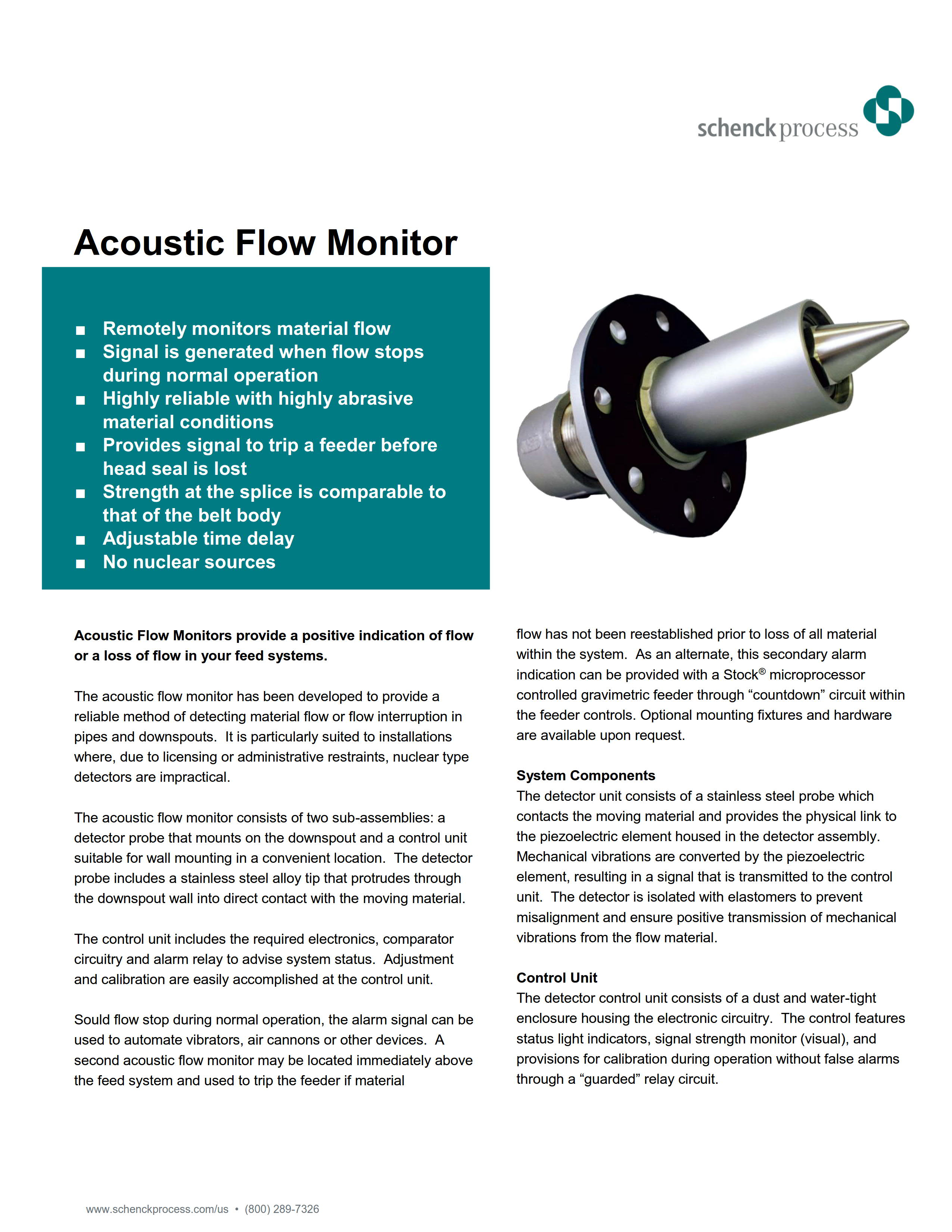 Acoustic Flow Monitor