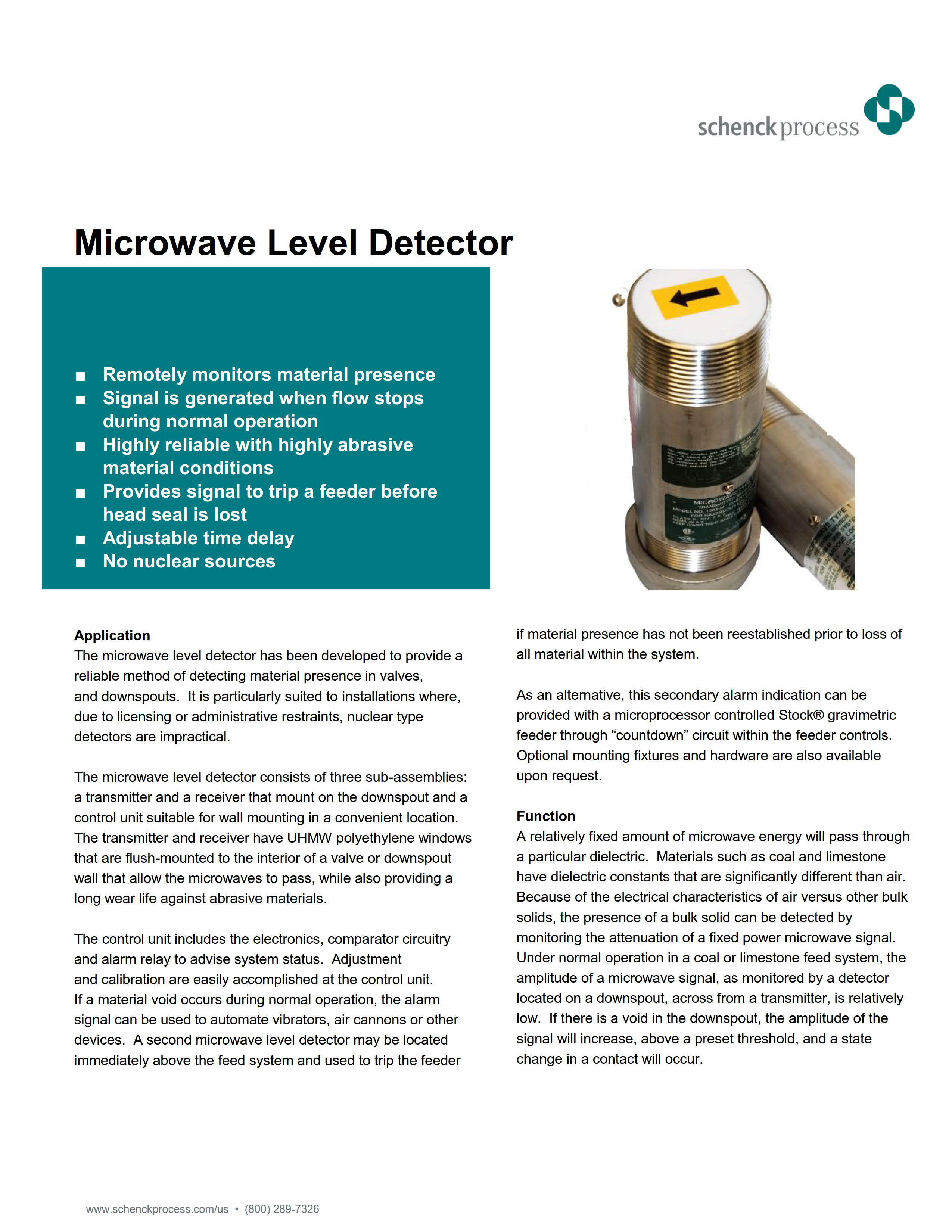 Microwave Level Detector
