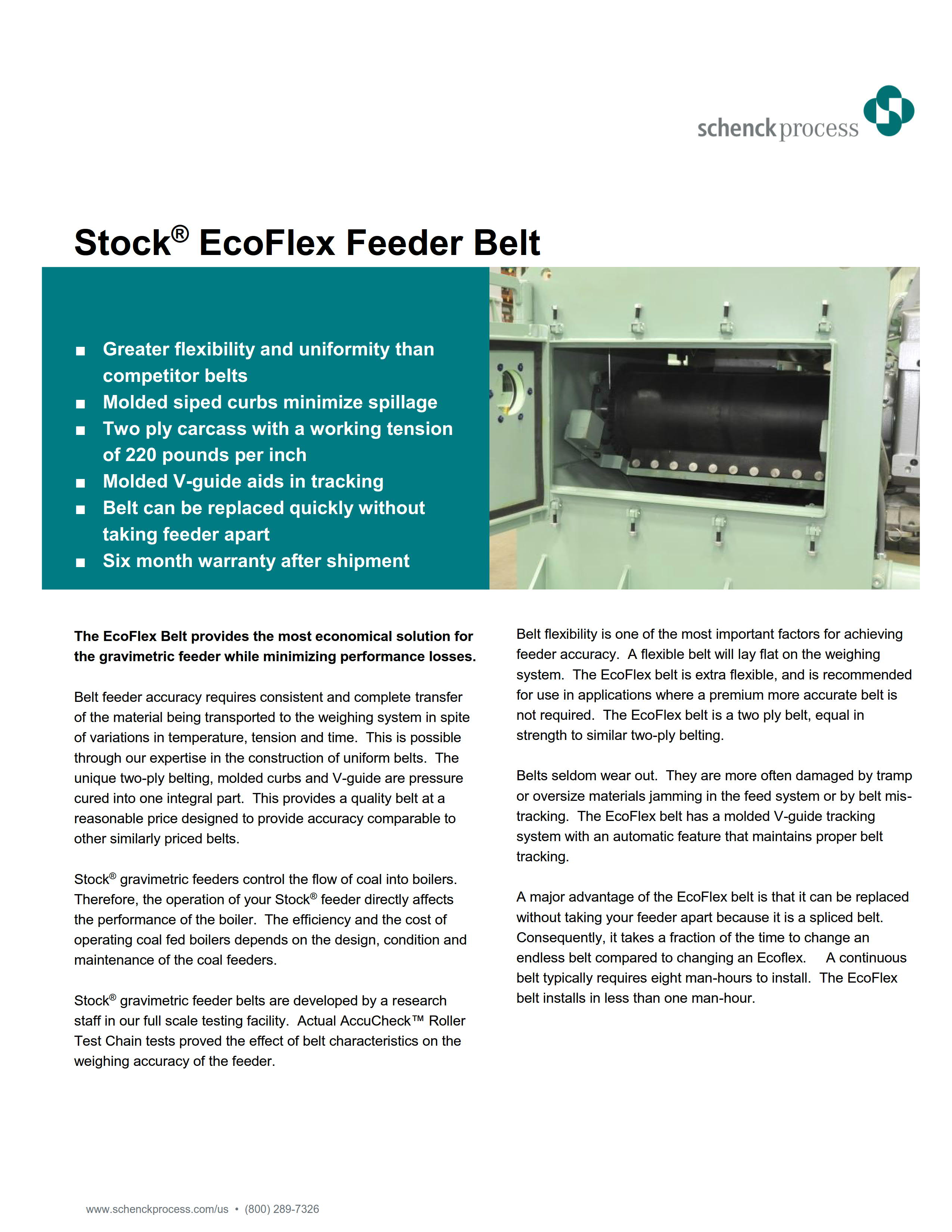 Stock® EcoFlex Feeder Belt