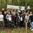 Schenck Process plants first career trees in Erlebnisallee Darmstadt